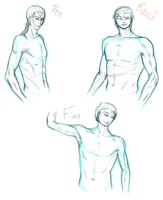 Muscley Sketches by CoattailsOfJustice