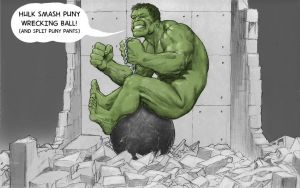 TLIID music video mash-up Hulk in Wrecking Ball by Nick-Perks