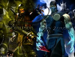 Scorpion and Sub Zero by SSOutPhase