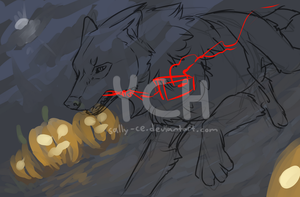 YCH [CLOSED] - The night of horror by Sally-Ce