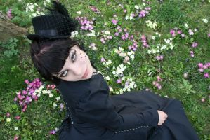me with black hair by lichtengel