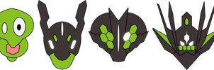 New Zygarde forms by RebelliousTreecko