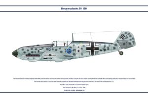 Bf 109 E-1 JG51 1 by WS-Clave