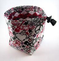 Punk Mess Dice Bag by Isilian