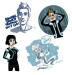 Tron sketches by TRAVALE