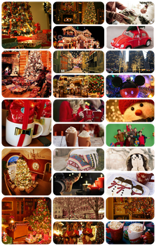 Christmas collage by Isabelaliins
