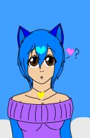 Me as a human cat by Riverheart95
