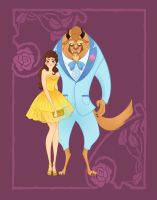 Disney Prom- Beauty and the Beast by spicysteweddemon
