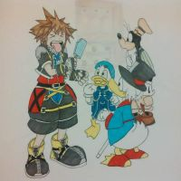Sora Doesnt Like SeaSalt Ice Cream Like Roxas Does by NettieClarkey