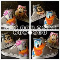 Disney Mickey Minnie Donald Daisy Vans by VeryBadThing