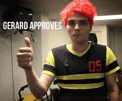 Gerard approves. by The-MCR-Fan-Club