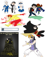Young Justice Art Dump 2 by xxjust-a-nobodyxx