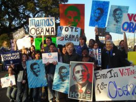 Obama Rally by NoirEtVert