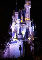 Cinderella's Castle at Night by ProtectorOfLove