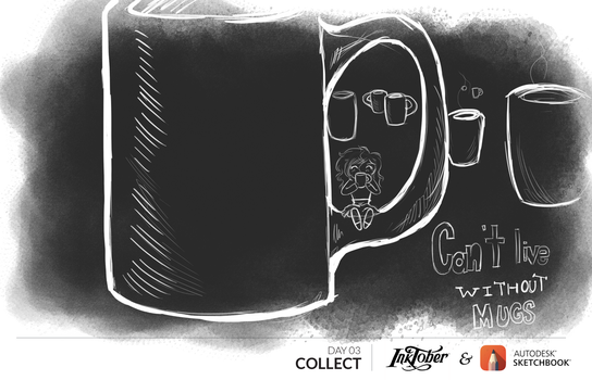 Collect: Inktober_ Day 03 by artfreaksue