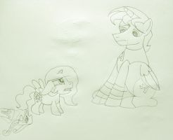 MLP - Tia's Heartache, Lineart (First Draft) by MetroXLR99