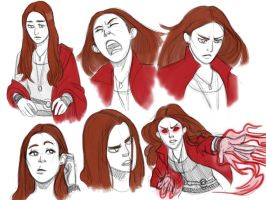 Scarlet Witch sketches by pencilHeadno7