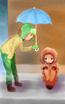 It's Raining Outside, Kenny by ThatGlassDoll