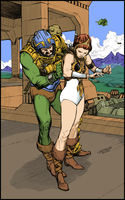 Squiring Teela - color by Laemeur