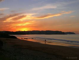 Sunset in Espasa beach 2 by Jorapache
