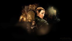Tauriel Wallpaper from The Hobbit by JennAnamika