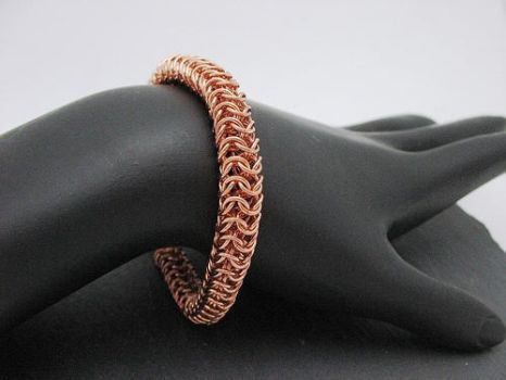 Copper Roundmaille Bracelet by andrewk1969