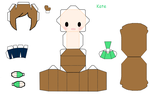 Kate (Jaiden's friend) Papercraft by Annagong963