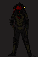 Tenebrean Gen-1 Military Pressure Suit Flat Colors by TenebraesRising