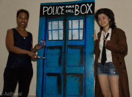 Another Doctor and her TARDIS by Aether-Shadow
