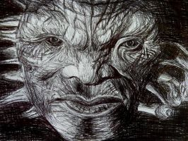 Face of Boe by rosabelledraws