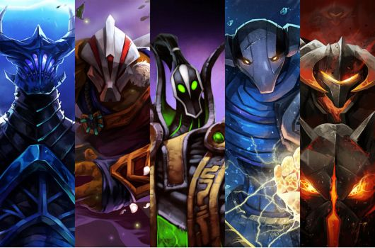 Mask gaming Dota 2: Razor-Jug-Rubick-Sven-CK by demonhunter1605