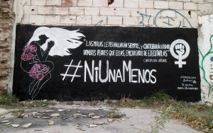 Street Art #NiUnaMenos by Johnny-Aza