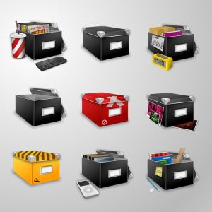 Boxes Icon Set by ~adam3k