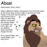 Abasi Character Sheet by albinoraven666fanart