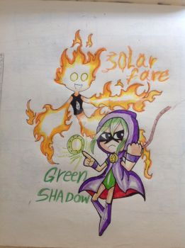 Green shadow and Solar flame by WASHIREN77