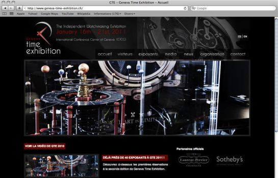 Geneva Time Exhibition Website by paroledemoi