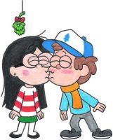 A Dipper and Candy Mistletoe Pic by nintendomaximus