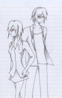 SS - Yoru and Noir,Short hair by NightWitch14