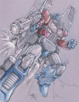 Optimus Prime sketch commission by Oshouki