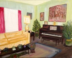 My Mother's Living Room by CarolynYM