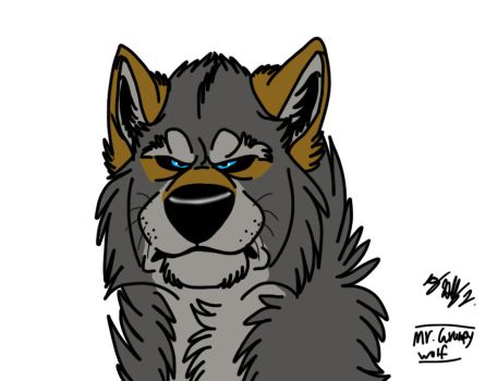 Mr. Grumpy Wolf by Hawaiifan