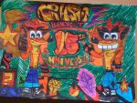 Crash bandicoot 15 colour by Sonicbandicoot2