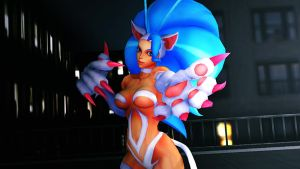 MMD Darkstalkers - the cat Felicia 04 by blackSoul1890