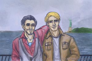 Sightseeing [Steve/Tony] by snowprism