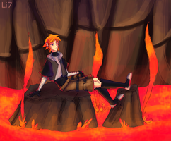 The floor is lava. by UltraLiThematic