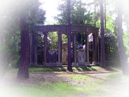a temple in the forest by Eirieniel