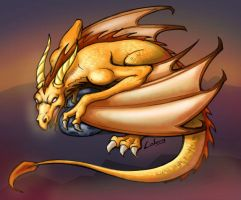 golden dragon by LOLONGX