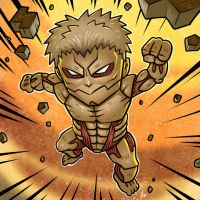 Chibi Armored Titan by edcomics