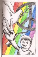 Peace sketch by anne-summer