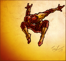 iron spider sketch by Bearded-Stranger